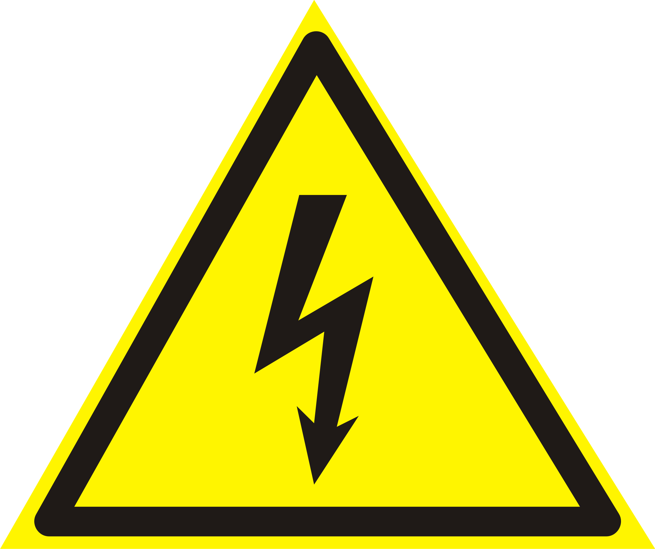 Electrician vector electrical symbol. Symbols warning attention