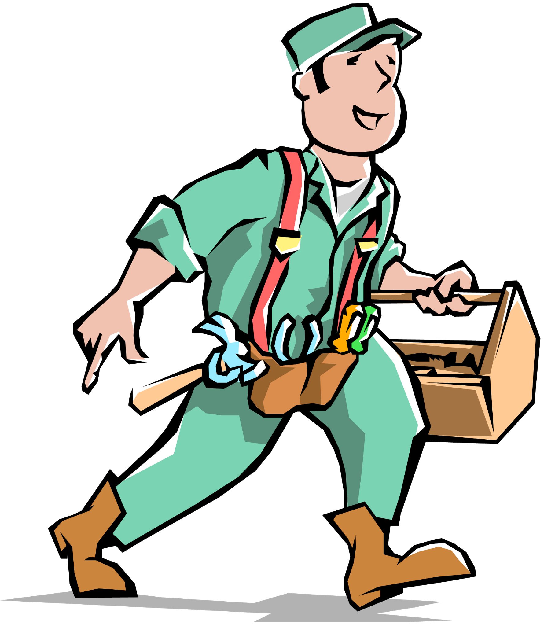 Electrician vector man. Collection of free electrition