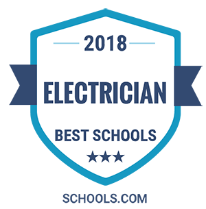 Electrician vector vocational training. Best schools for an