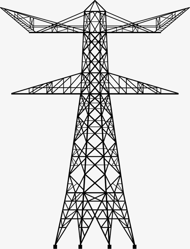 Electricity clipart electric tower. Creative material pgn png