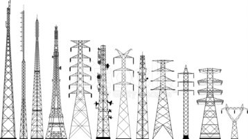 Electricity clipart electric tower. Pole pylon voltage lines