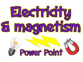 Electricity clipart electricity magnetism. And unit teaching resources