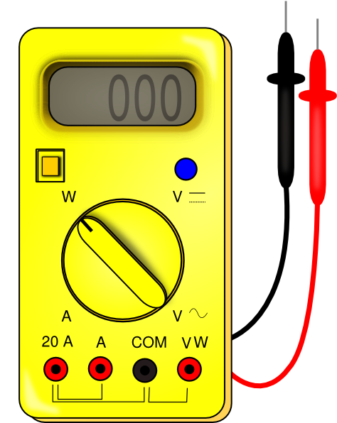 vector voltmeters clipart