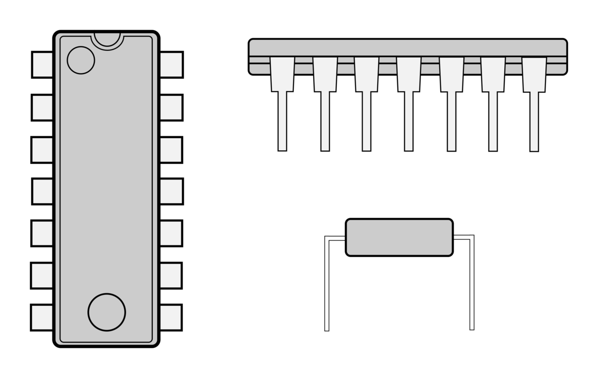 Chip drawing clip art. Integrated circuits chips circuit