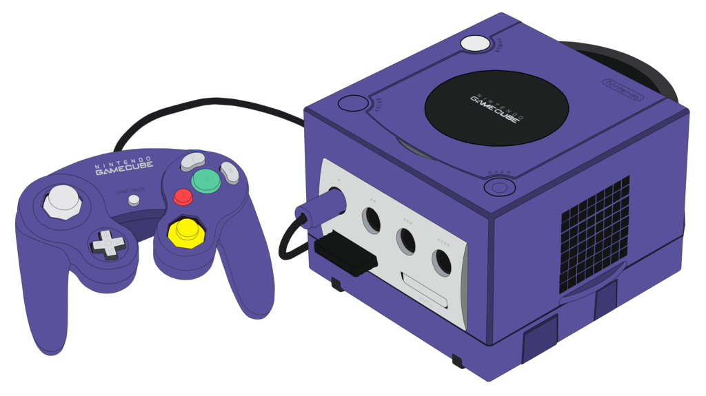 Electronics drawing gaming. Gamecube console by mrplymouth