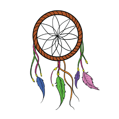 Elegant drawing dream catcher. How to draw a