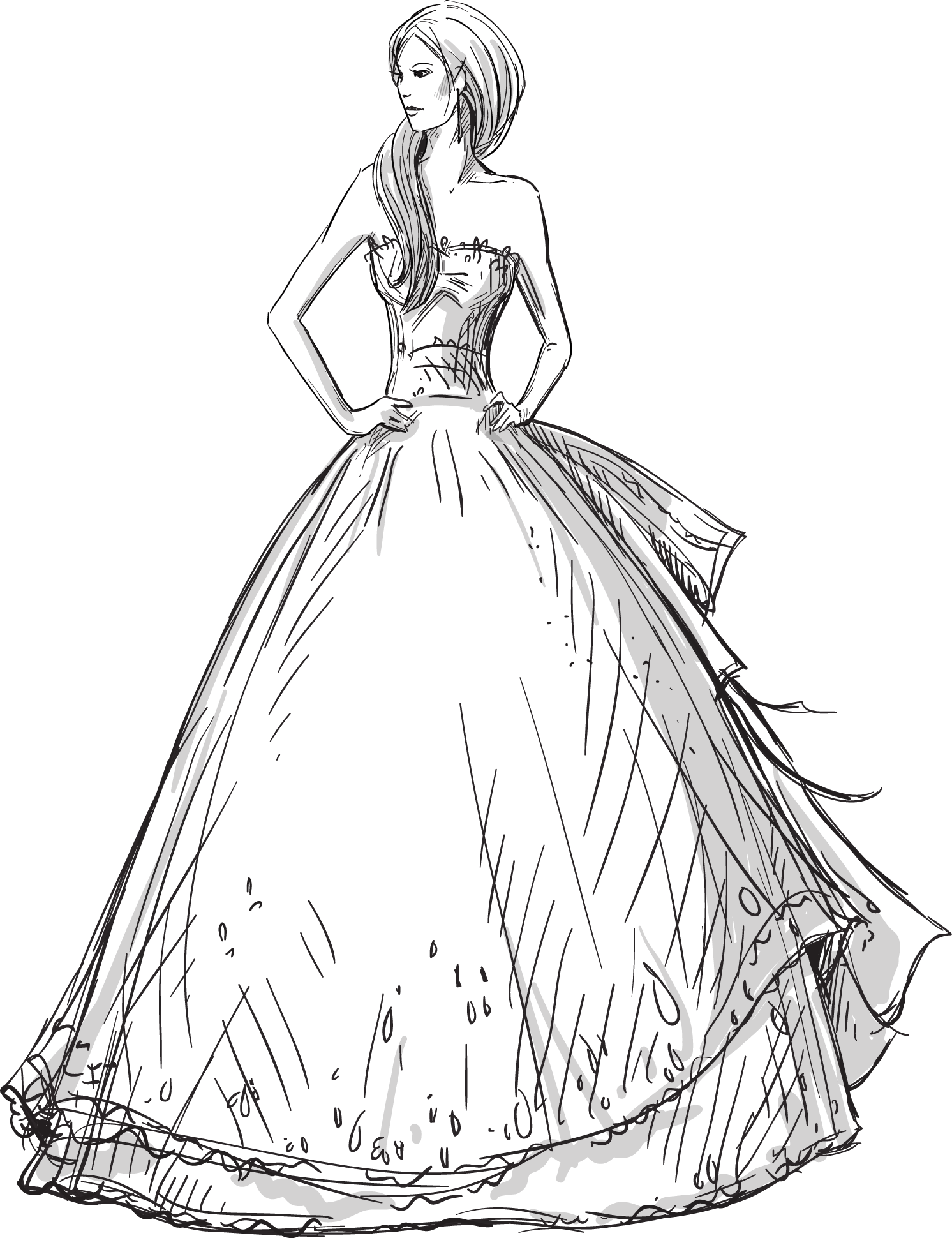 Outfits drawing victorian. Wedding dress fashion hand