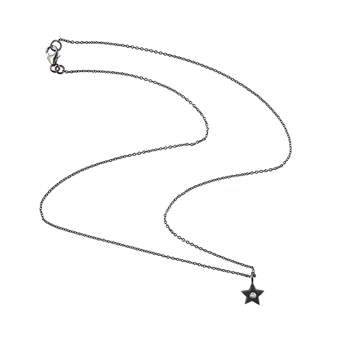 Silver drawing simple. Necklace star elegant in