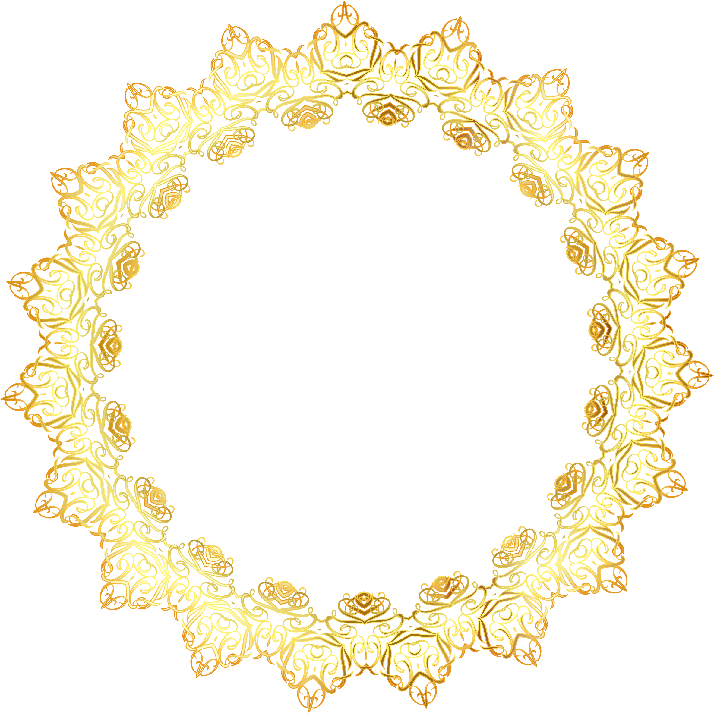 Elegant gold border png. Abstract frame no background