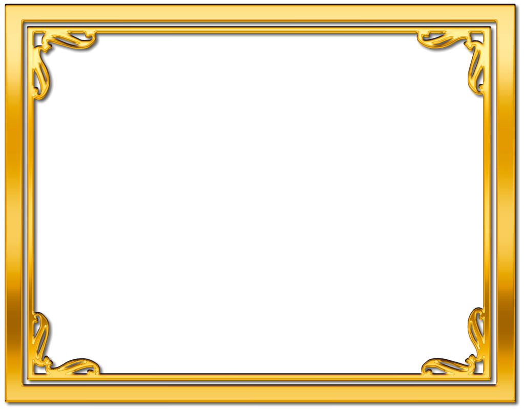 Elegant gold border png. Frame golden photo