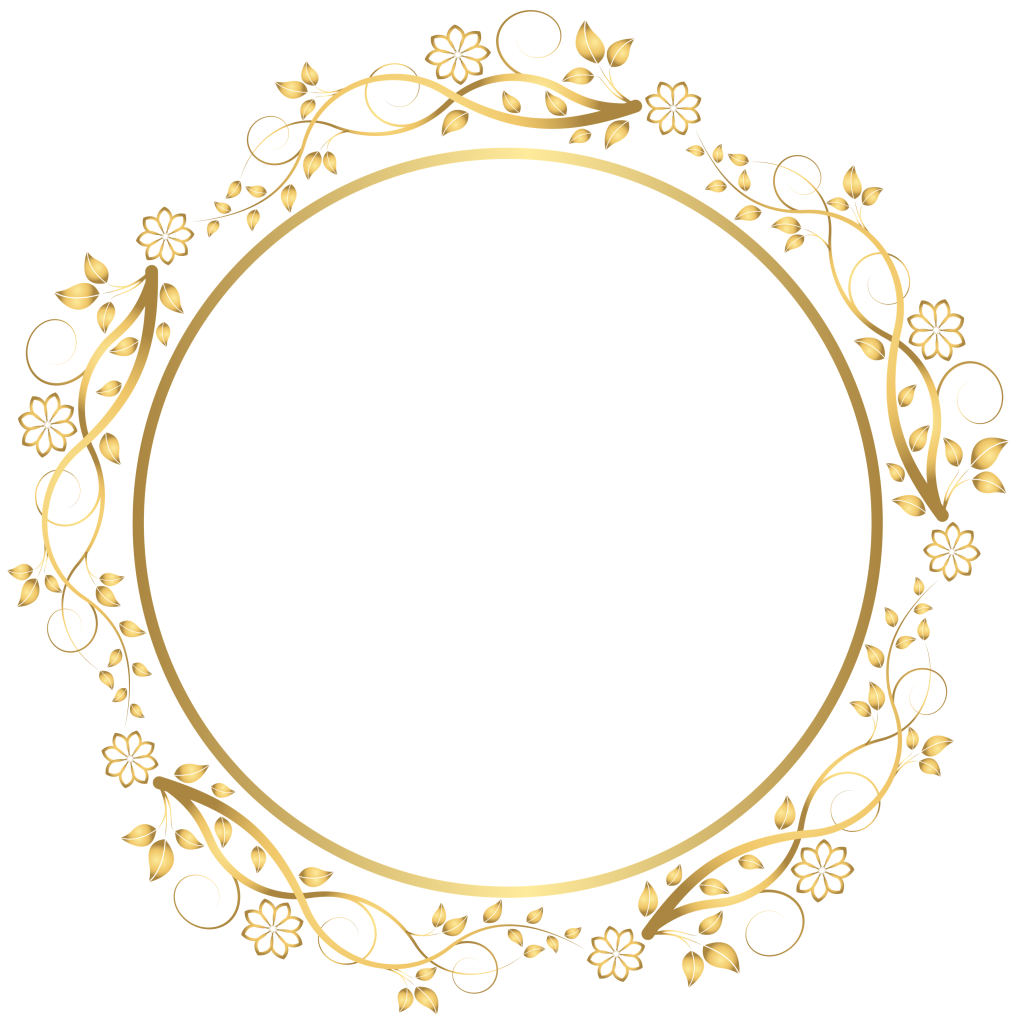 Elegant gold borders png. Round frame border peoplepng