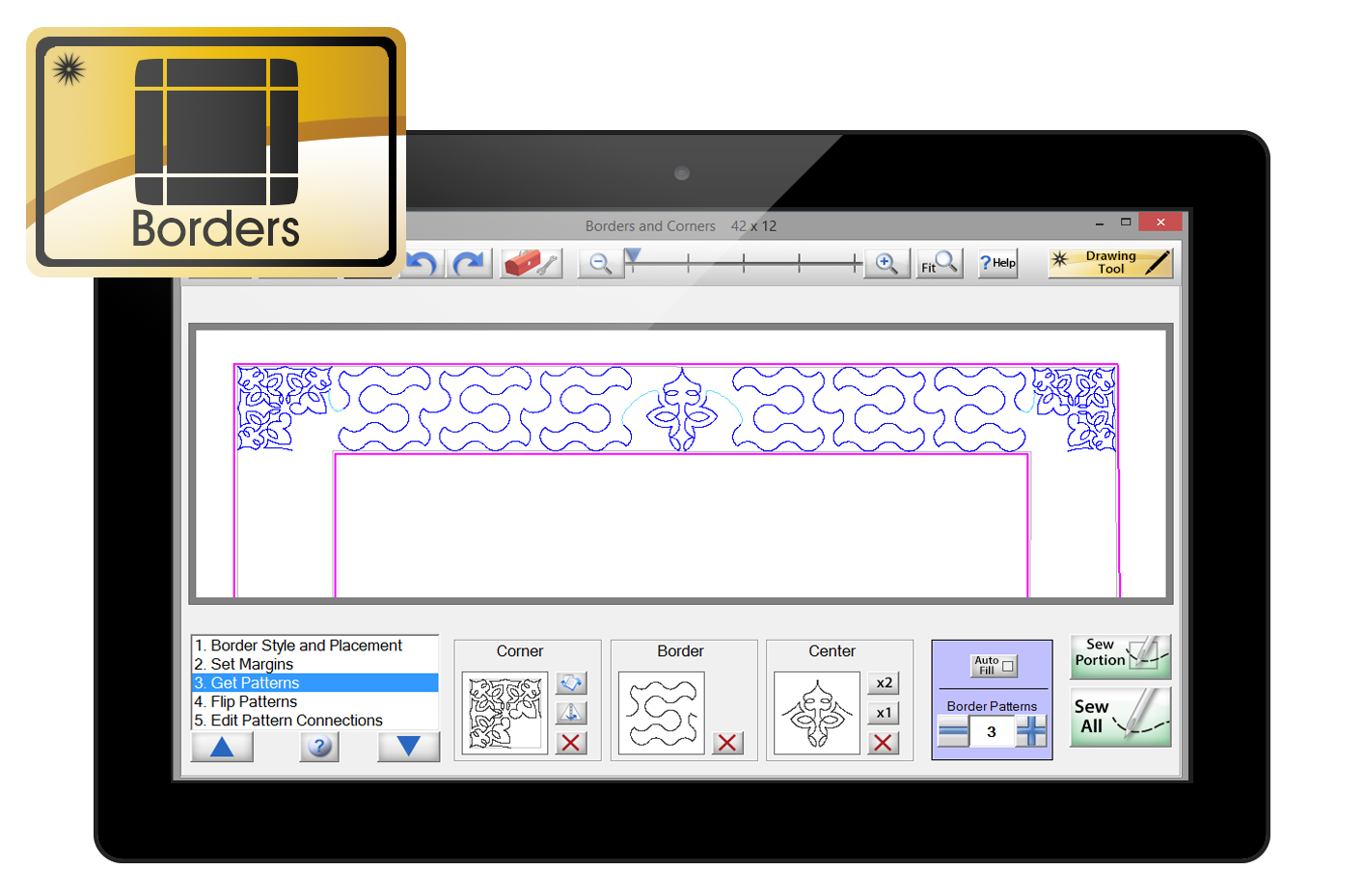 Elegant gold borders png. Quilter s creative touch