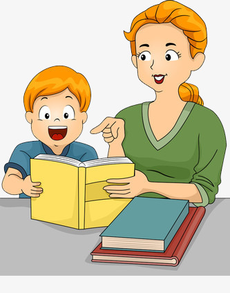Elementary clipart early childhood. Mother teaching children literacy