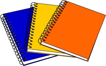 notebook clipart writer notebook