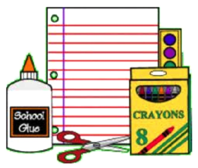 Elementary clipart schhol. School supply lists