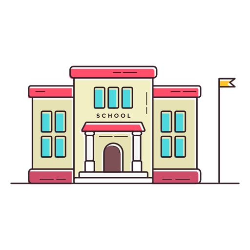 Elementary school png. Building icon transparent svg