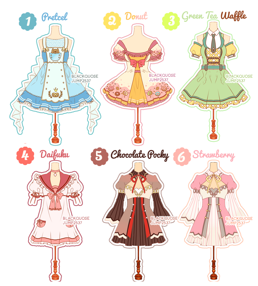 Outfits drawing magical. Open dessert theme outfit