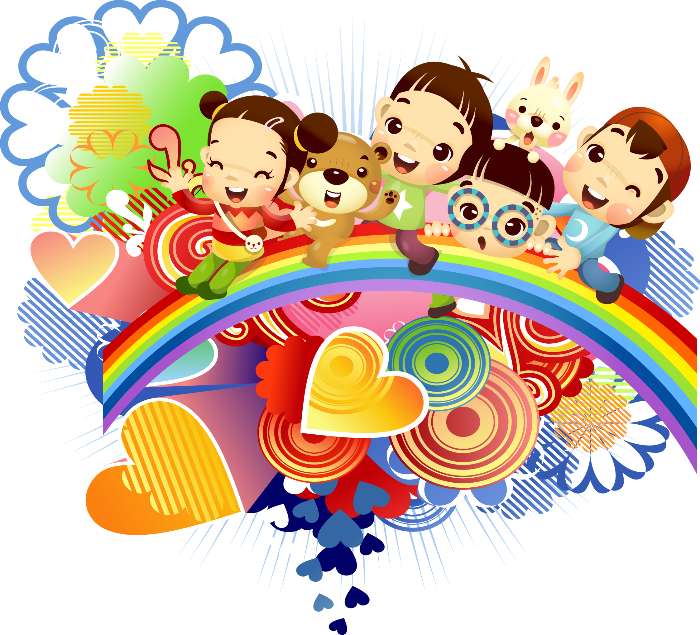 Elements drawing cute. Children s day cartoon