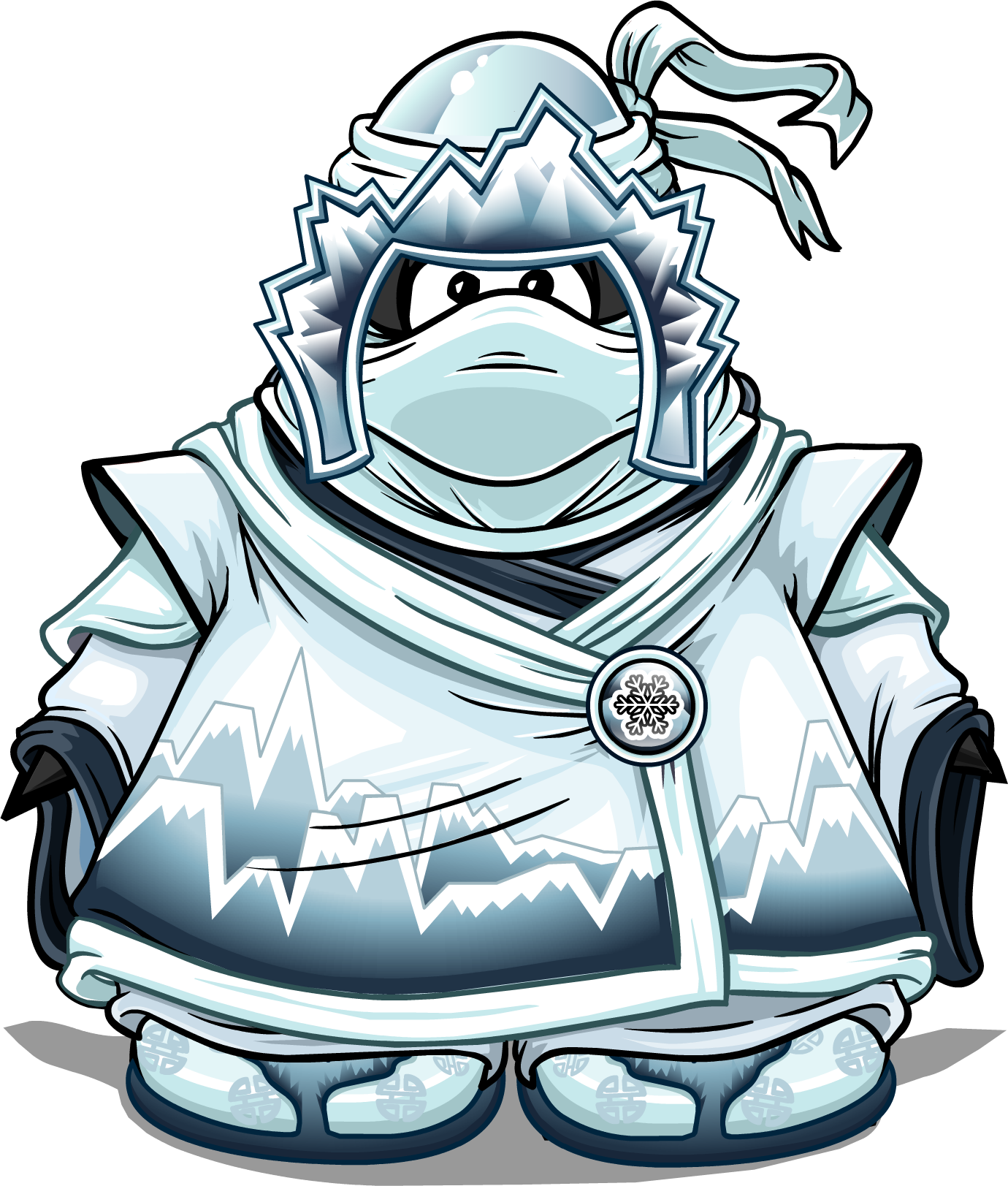 Elements drawing ice. Snow suit club penguin