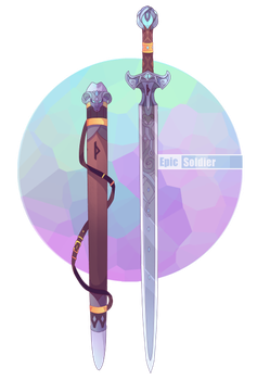 Elements drawing sword. Weapon commission by epic