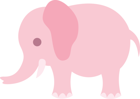 Elephants svg adorable. Little pink elephant clip
