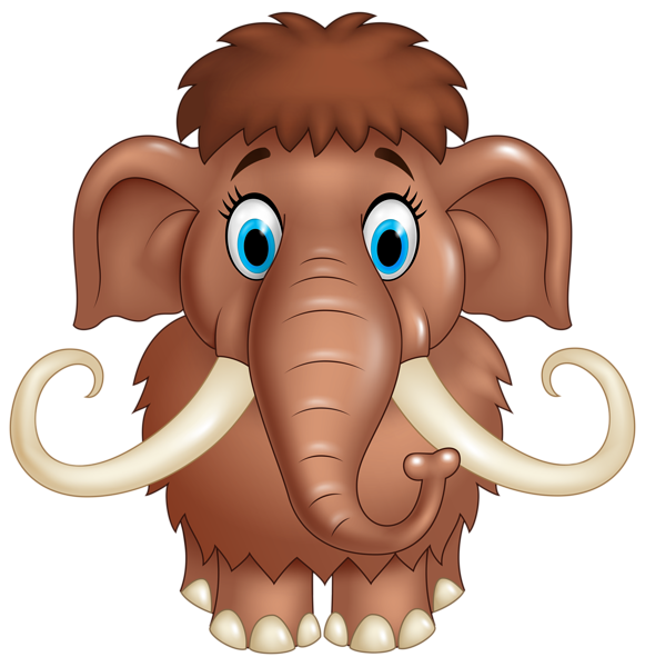Elephant cartoon png. Cute mammoth clipart image