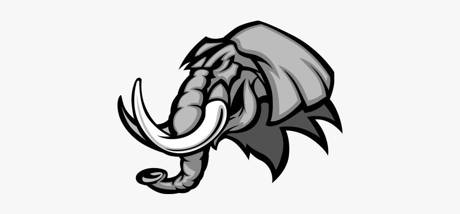 Elephant claw. Printed vinyl stickers factory