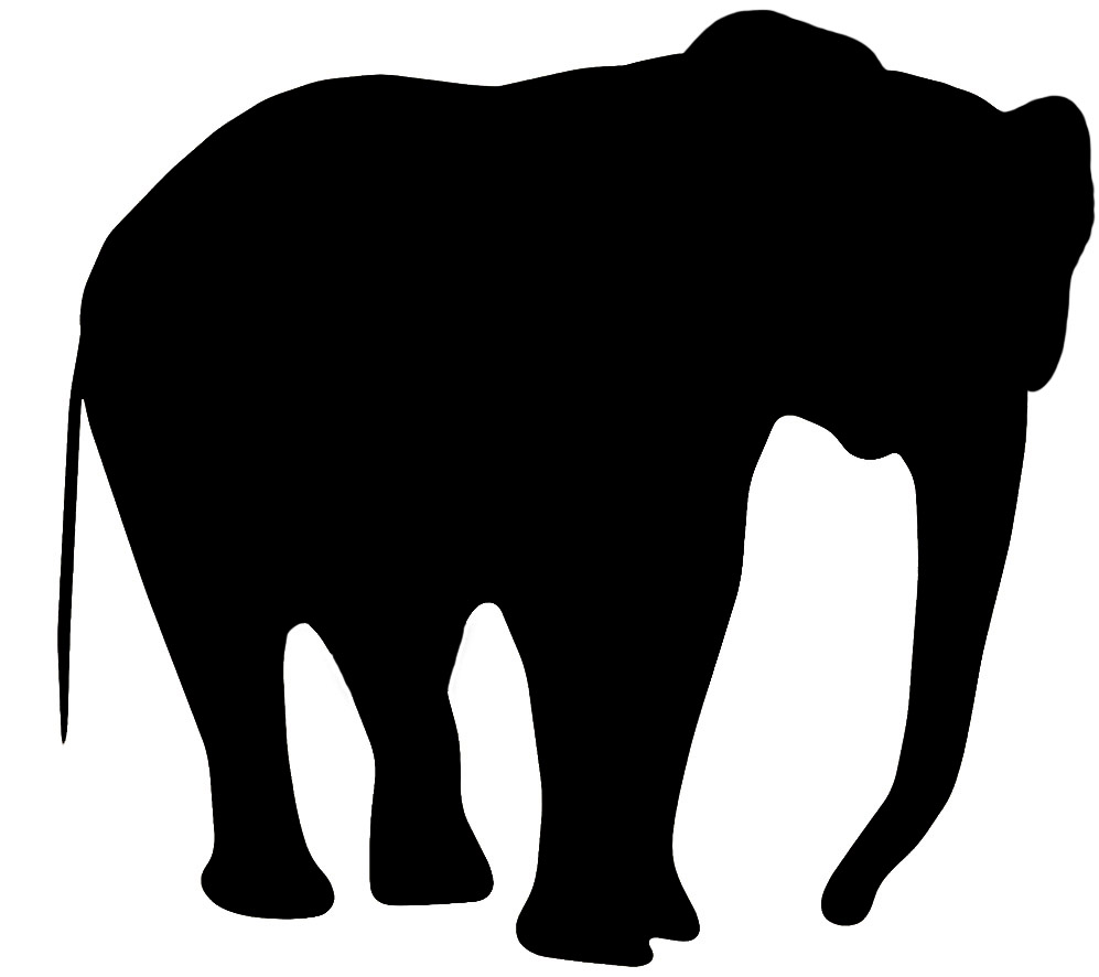 Silhouette of . Elephant clip art clipart freeuse library
