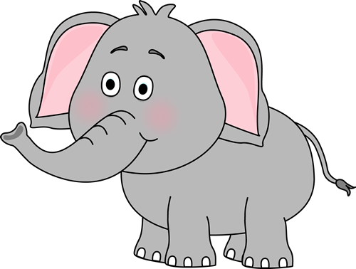 Color clipart elephant. Cute car clip art