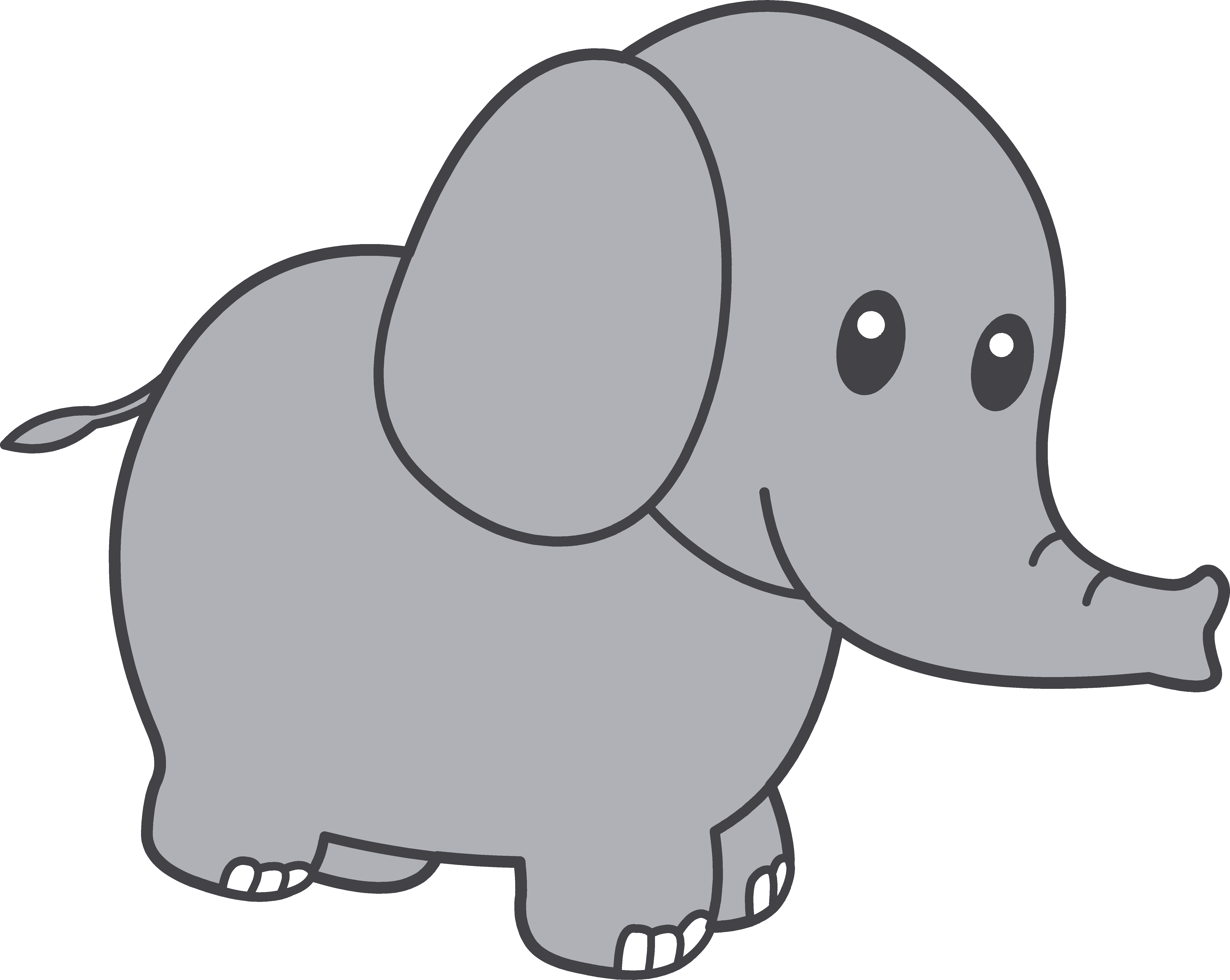 Free images download clip. Drawing elephants adorable png free