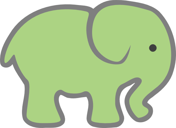 Green clipart . Elephant clip art baby elephant banner stock