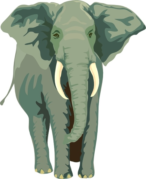Free vector in open. Elephant clip art african elephant svg free library