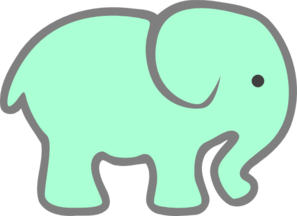 Drawing elephants easy. Green baby elephant clip