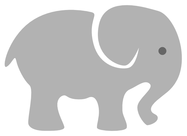 Light grey at clker. Elephant clip art baby elephant banner library stock