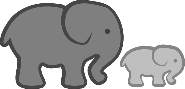 elephants clipart mummy