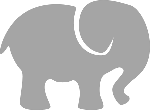 Grey at clker com. Elephant clip art baby elephant banner black and white stock