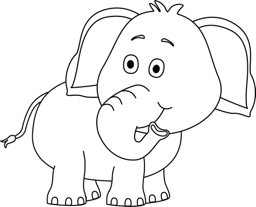 Pin by pam cross. Color clipart elephant graphic black and white stock