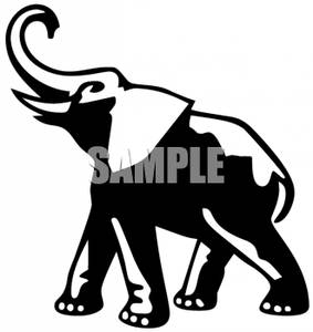 Elephant clip art black and white. Clipart panda free images