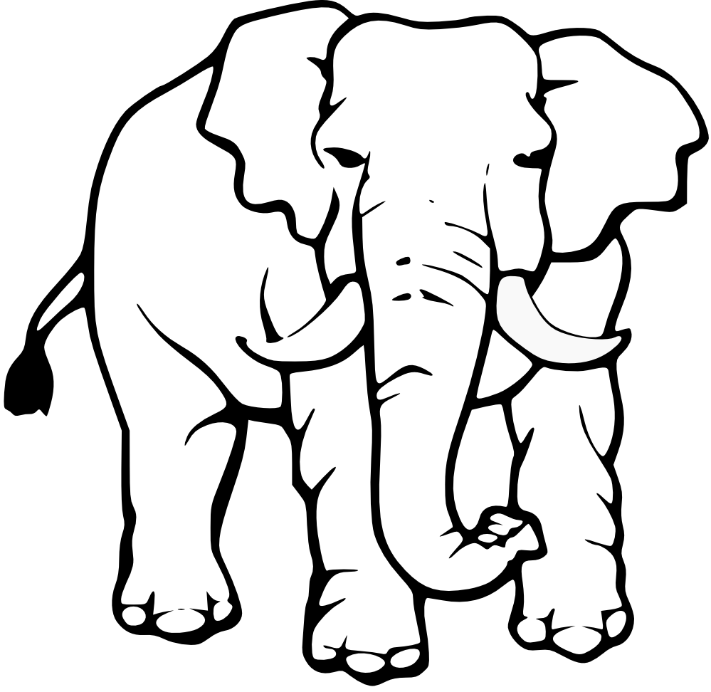 Elephant clip art black and white. Free clipart download baby