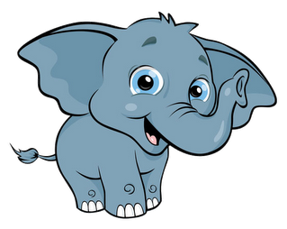 elephants clipart front