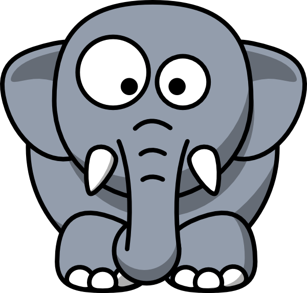 Elephant clip art cute. Free clipart download on
