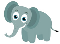 Elephant clip art cute. Free clipart pictures graphics