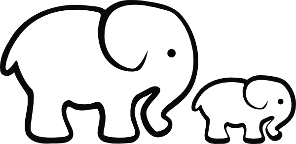 Elephant clip art easy. Clipart pencil and in