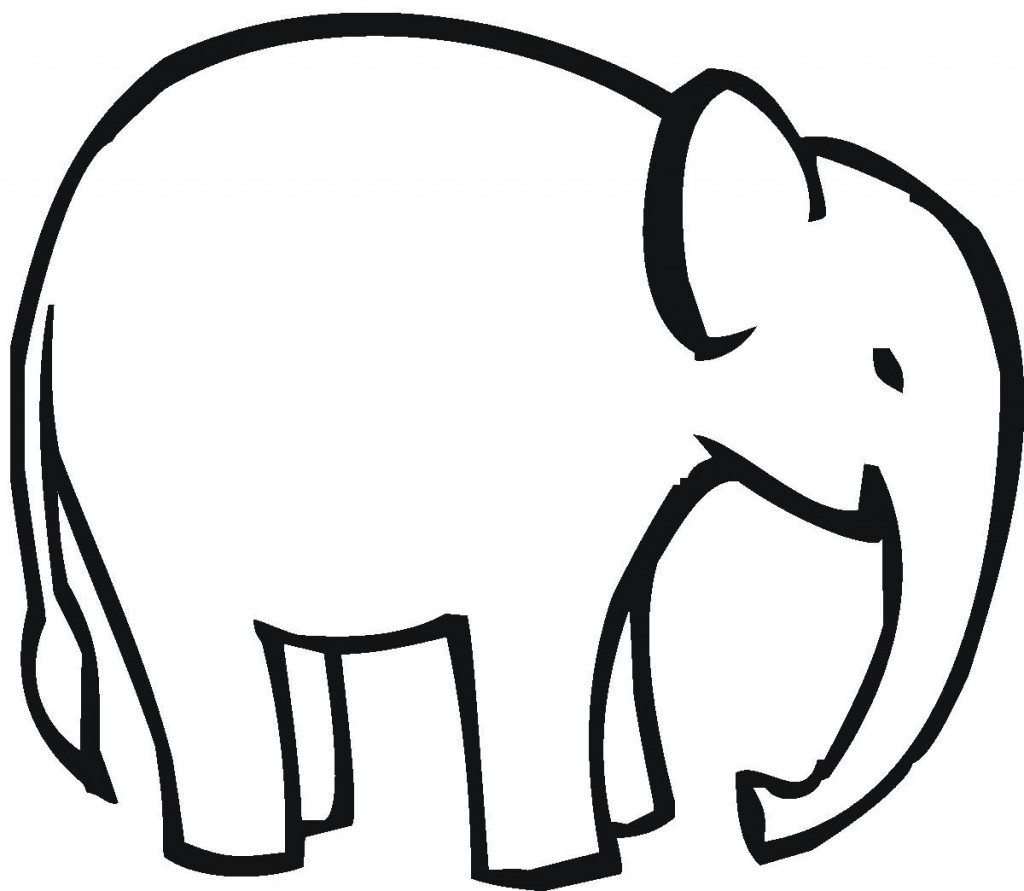 Elephant clip art easy. Drawing of at getdrawings
