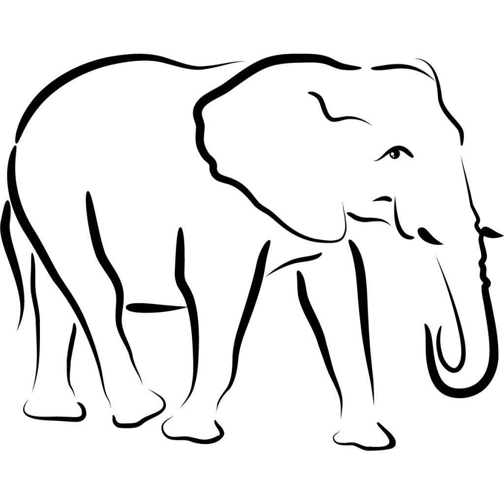 Elephant clip art easy. How to draw an