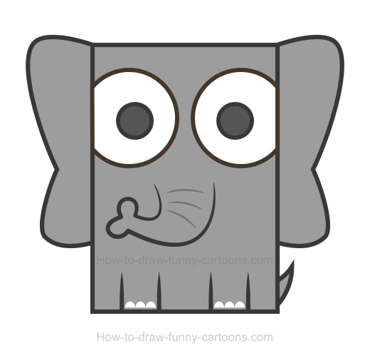 Elephant clip art easy. Clipart how to draw