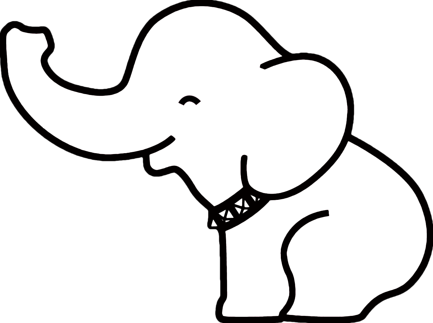 Elephant clip art easy. The outline ideas on