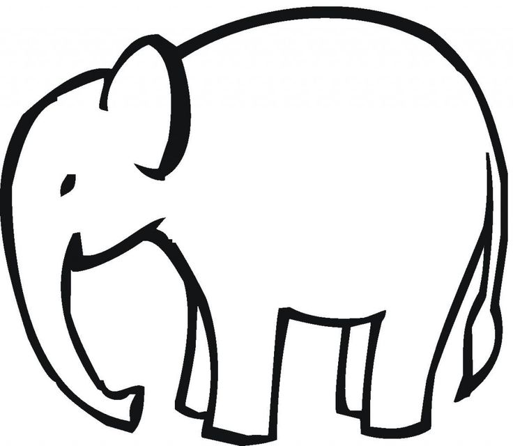 Elephant clip art easy. Drawing outline at getdrawings