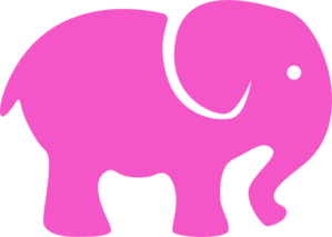 Pink simple vector online. Elephant clip art easy image free library