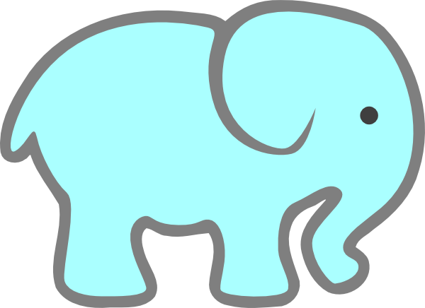 Elephant clip art easy. Free cute baby clipart